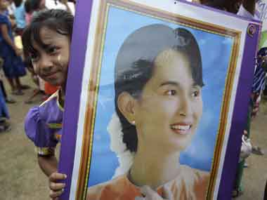 A file photo of Aung San Suu Kyi. AP