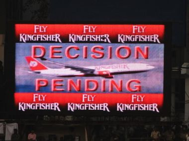 File photo of a display screen showing a decision pending by third umpire. Getty Images