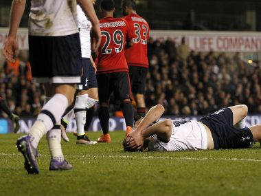 Tottenham players in agony after draw against West Brom. AFP