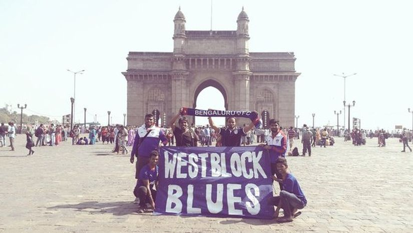 The 'Travelling Blues' in Mumbai. Image courtesy: Twitter/@WestBlockBlues