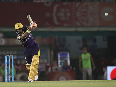 Robin Uthappa of Kolkata Knight Riders hits over the top for four during match 13 of the Vivo Indian Premier League ( IPL ) 2016 between the Kings XI Punjab and the Kolkata Knight Riders held at the IS Bindra Stadium, Mohali, India on the 19th April 2016 Photo by Ron Gaunt / IPL/ SPORTZPICS