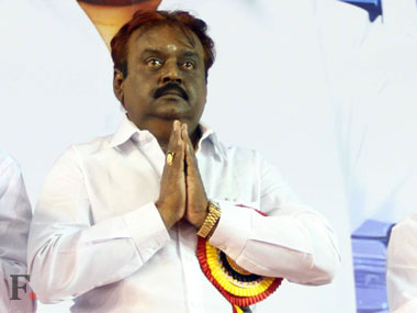DMDK founder Vijayakanth. Image courtesy: Firstpost