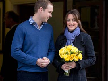 A file photo of Kate and William. AP