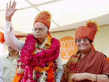 File photo of BJP Senior Leader LK Advani and his wife Kamla Advani. PTI