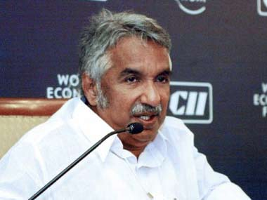 Kerala Chief Minister Oomen Chandy. Agencies