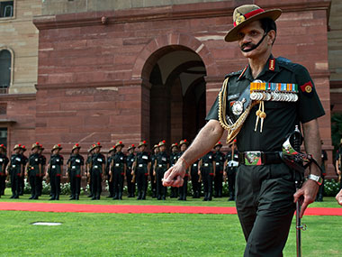 Indian Army chief Dalbir Singh Suhag. AFP