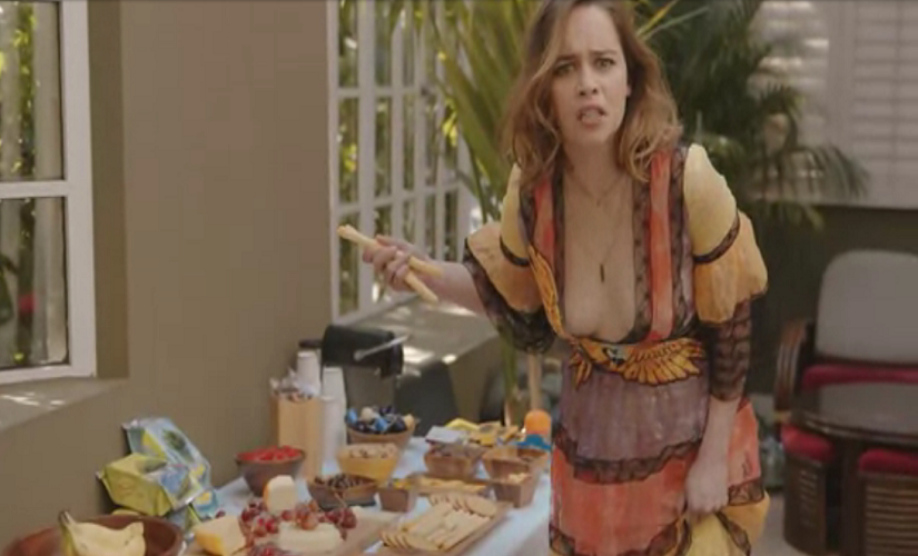 """""""Where are my kale chips"""" Emilia Clarke asks. Screen grab"""