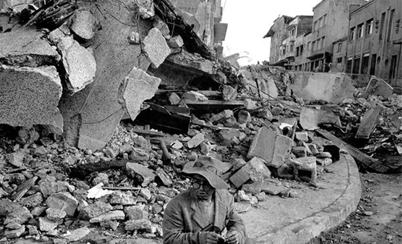 The 1960 earthquake in soutern Chile. File photo. AP