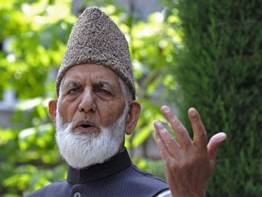 Hurriyat Conference chief Syed Ali Shah Geelani. Reuters