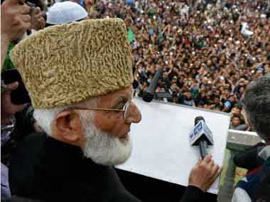 A file photo of Syed Ali Shah Geelani. PTI