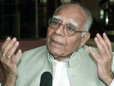 File photo of senior lawyer Ram Jethmalani. Reuters