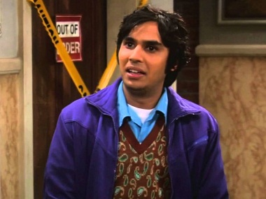 Kunal Nayyar as Raj Koothrappali in 'The Big Bang'