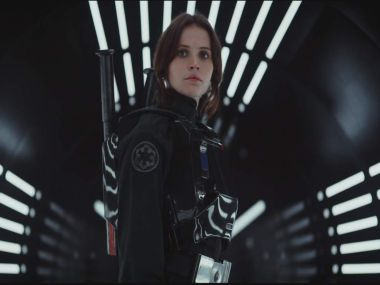 Felicity Jones in a screengrab from the trailer.