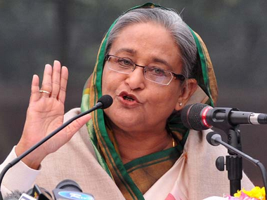 A  file photo of Sheikh Hasina. PTI