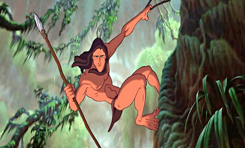 Disney's animated Tarzan feature. Screen grab from YouTube