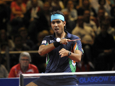 Indian table tennis player  Achanta Sharath Kamal. AFP