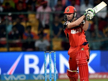 Royal Challengers Bangalore's AB De Villiers in action. PTI