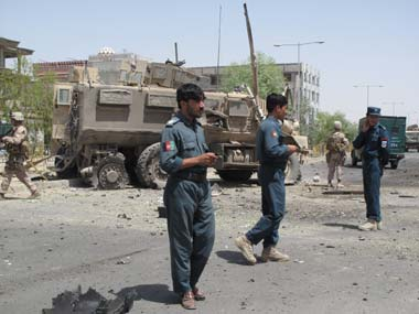 File photo of the Afghan security forces. AP