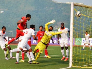 Despite multiple attempts by both sides, the first leg of the semi-final ended in a draw. Image courtesy: AIFF