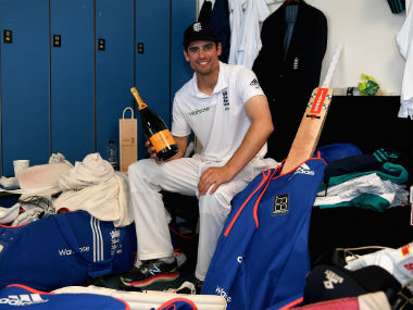 England Test skipper Alastair Cook following his side's series-clinching win. Getty Images