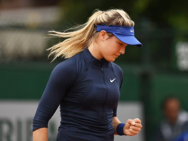 Eugenie Bouchard of Canada at French Open. Getty Images