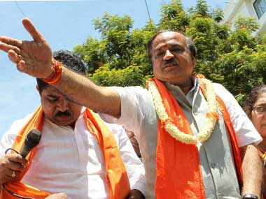 Union Minister Ananth Kumar. PTI