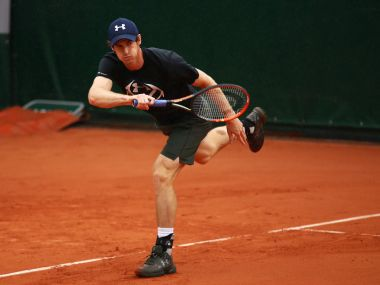 Andy Murray of Great Britain during a practice session at French Open. Getty Images