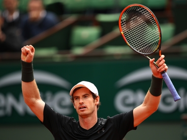 A relieved Andy Murray after defeating Radek Stepanek in first round of French Open. Getty