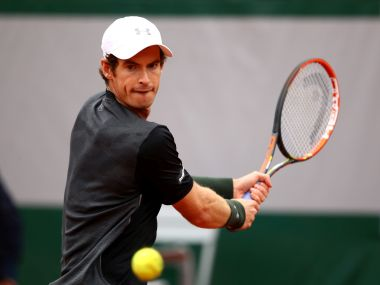 Andy Murray in action at French Open. Getty Images