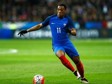Anthony Martial of France in action. Getty