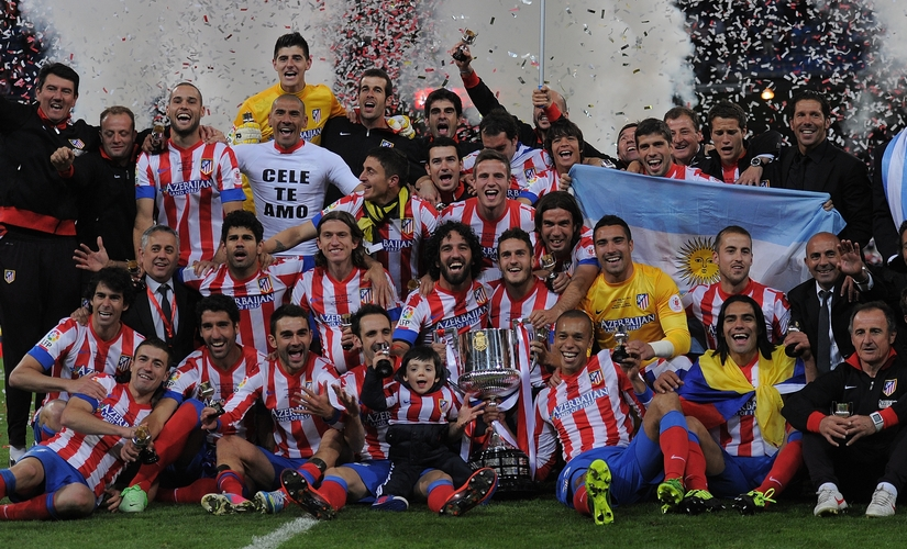 Atletico Madrid came from behind to win the 2013 Copa del Rey at the Bernabue. Getty