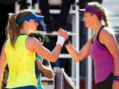 Victoria Azarenka progressed to the 3rd round with a win over Alize Cornet. Image courtesy: Facebook