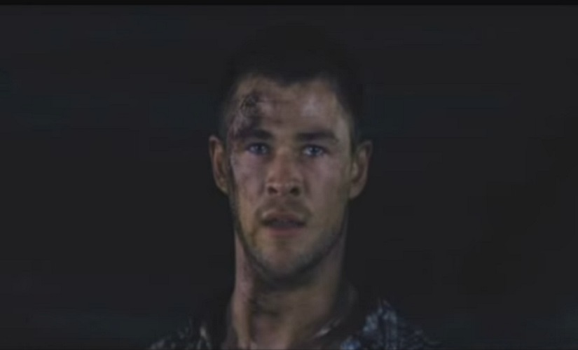 Chris Hemsworth in A Cabin In The Woods. Screengrab from YouTube