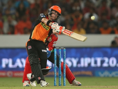 David Warner hit his fifth half-century in the ongoing IPL to set up SRH win. BCCI