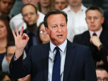 UK Prime Minister David Cameron. AFP
