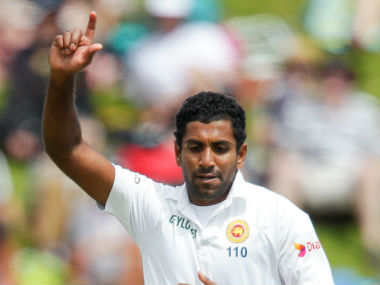 Dhammika Prasad took five for 50 in England's second innings in the second Test at Headingley to script a famous win for Sri Lanka. Sportzpics/IPL