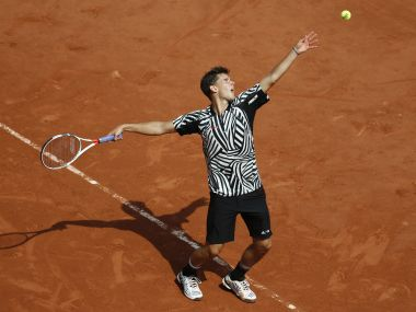 Austria's Dominic Thiem defeated Alex Zverev in the third round of French Open. Getty