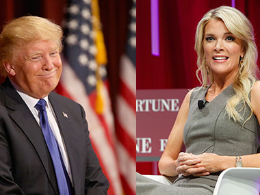 A file photo of Donald Trump and Megyn Kelly. Getty images