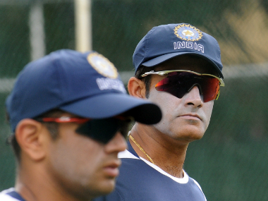 Former Indian cricketers Rahul Dravid (left) and Anil Kumble. AFP