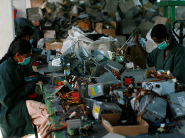 As much as 12 percent of the 18.5 lakh metric tonnes discarded by India constitutes of telecom equipment alone. Getty images