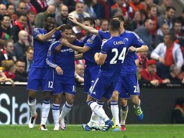Hazard scored a solo goal to hand Chelsea the lead agianst Liverpool. Getty
