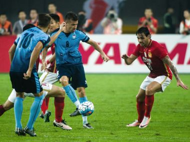 China's Guangzhou Evergrande in action against Sydney FC in the AFC Champions League. AFP