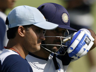 Sourav Ganguly and MS Dhoni. Reuters