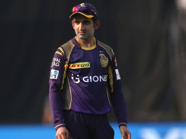 Kolkata Knight Riders captain Gautam Gambhir during match 8 of the Vivo IPL 2016 (Indian Premier League) between the Sunrisers Hyderabad and the Kolkata Knight Riders held at the Rajiv Gandhi Intl. Cricket Stadium, Hyderabad on the 16th April 2016 Photo by Shaun Roy/ IPL/ SPORTZPICS