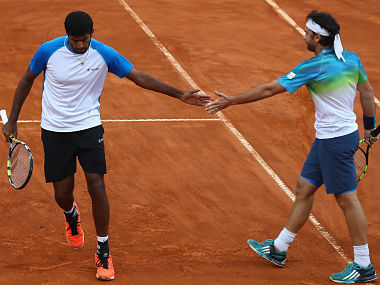 File photo of Rohan Bopanna and Floris Mergea. GettyImages