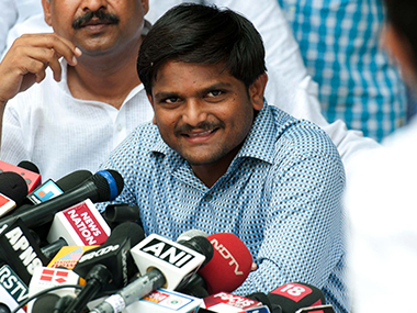 Hardik Patel willing to give undertaking to refrain from activities affecting law and order if granted bail. PTI