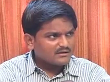 Hardik Patel. File photo. Image courtesy: CNN-IBN