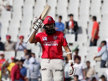Hashim Amla of Kings XI Punjab scored a fine 96 in a losing cause. BCCI