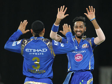 Krunal Pandya of Mumbai Indians produced a great all-round performance to help MI beat DD. SportzPics