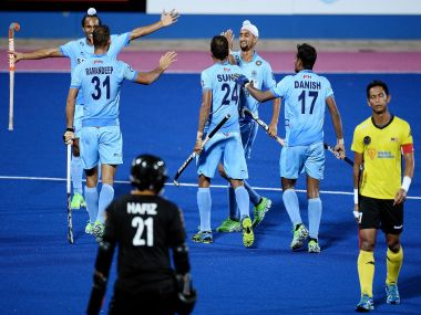 File photo of the Indian hockey team. AFP